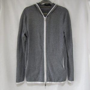 """Theory S Zip Jacket Sweater Hooded 36"""" Bust"""